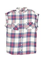 Rails Womens Colourful Style Shirt Relaxed White Fuschia Multicoloured S... - $49.93