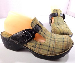Born Mules Womens Plaid Shoes Size 9 / 40.5 - $49.45