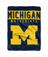 Michigan Wolverines Blanket 60x80 Raschel Basic Design [Free Shipping]**... - $45.00