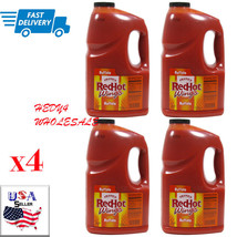 LOT of 4 Frank's Red Hot Buffalo Wings Sauce, 128 Ounce  FAST SHIPPING!! - $98.95