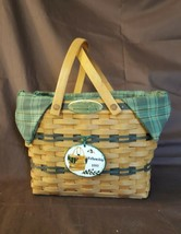 Longaberger 1997 FELLOWSHIP Basket Combo Fabric Liner Plastic Protector ... - $44.00
