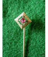 ANTIQUE FACETED RUBYLITE ART DECO STICK PIN - $74.90