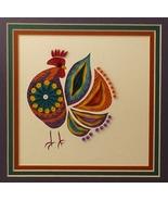 Quilled Folk Art Cock A Doo Wall Art by Sandra ... - $425.00