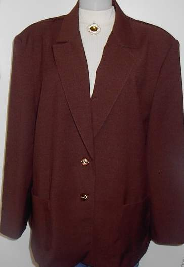 Brown Western Horse Show Hobby Halter Jacket Plus Size 24W
