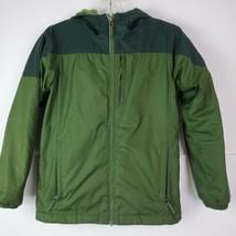 Columbia Boys size M 10/12 Omni heat fleece lined hooded jacket parka Gr... - $29.68