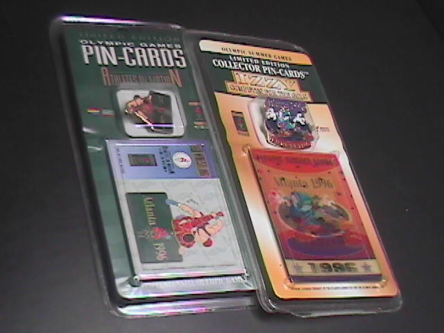Pins imprinted products two pin cards 1996 atlanta summer olympics wrestling 11