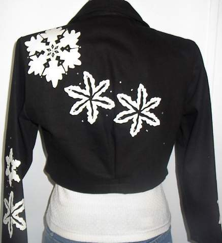 WOW! Awesome! Black Sparkle Rail Horse Show Hobby Halter Jacket Small