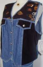 Denim & Black Horse Show Hobby Halter Vest Plus Size XL  - $40.00