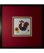 Quilled Folk Art Rooster Wall Art by Sandra White - $425.00