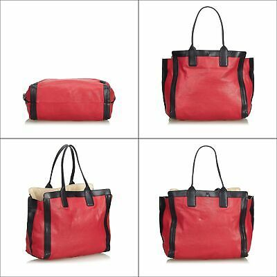 Pre-Loved Chloe Red Others Leather Alison Tote Bag France