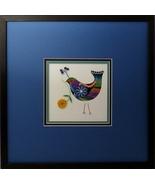 Quilled Folk Art Bird Wall Art by Sandra White - $425.00