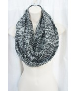 Kensie Infinity Scarf One Size Black White Sequined Knit Acylic Blend   - $19.71