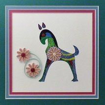 Quilled Folk Art Horse Wall Art by Sandra White - $425.00