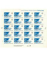 DOWNHILL SKIER 2006 Olympic Winter Games TORINO ITALY #3995 USPS 20 x 39c Sheet - $21.77