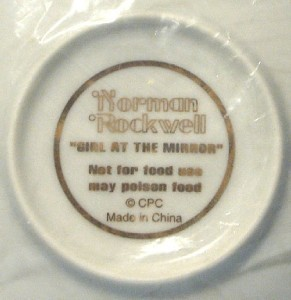 CPC Norman Rockwell Girl in the Mirror Mini Collector Plate NIB