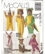 McCall's Pattern 5620 Halloween Babes Bunny Dragon More Toddler Size 3 U... - $4.49