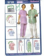 Butterick Pattern 5710 Misses Professional Uniform Basics XL - XXL Uncut - $6.99
