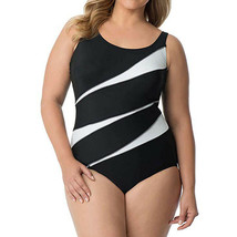 Miraclesuit  Swimwear Helix Underwire Scoop Neckline Swimsuit, Black/Whi... - $118.32