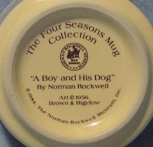 Norman Rockwell Boy and His Dog Mug 1984 Four Seasons Collection