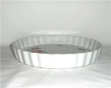 Christineholm Rose Quiche Tart Baking Dish Plate
