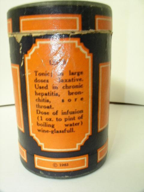 MOROSAN Horehound vintage medicine cylinder 1925
