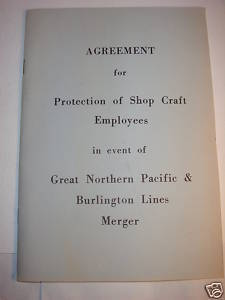 Great Northern Pacific Burlington Line Merger Agreement