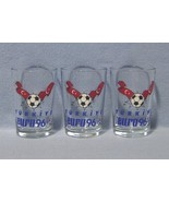 UEFA Euro 96 Turkiye 3 Beer Shooter Glasses Soccer Turkey - $7.99