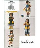 Vogue for Me Pattern 9049 Dress Top Jumper Overalls Sizes 2 3 4 Uncut - $6.99