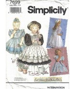 Simplicity Pattern 7699 Daisy Kingdom Dresses Pinafores Sizes 2 3 4  - $4.99
