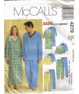 McCall's 4279 Misses Men's Teen's Nightshirt Pajamas Sizes Sm Med Lg PJs... - $6.99