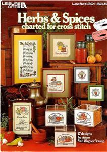 Herbs and Spices Cross Stitch Booklet Leisure Arts 1981