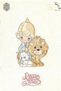 "Precious Moments ""Peace on Earth"" PM4 Cross Stitch Booklet 1983"