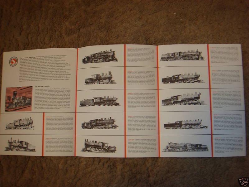Great Northern Railway STEAM LOCOMOTIVES 1960s brochure
