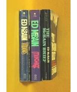 Ed McBain 3 Paperback Book Lot 87th Precinct - $6.99