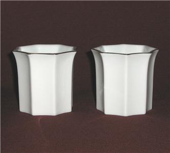Mikasa Holiday VA081 2 Porcelain Votive Candle Holders