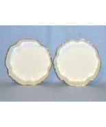 Noritake 2 White Gold Rim Candle Plates Trays Coasters - $12.99