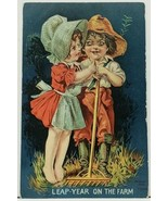 Boy & Girl Bonnet Leap Year on the Farm 1908 Embossed to Elmira NY Postc... - €11,87 EUR