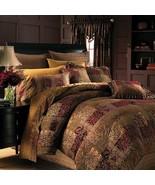 New Croscill Galleria 4 Piece King Comforter Set Red Multi Color - $261.35