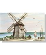 Cape Cod, Mass/MA Postcard, Windmill At Bass River/Brooks - $8.00