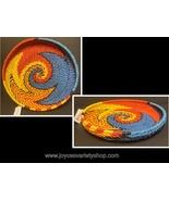 "Transpac Braided Serving Platter Colorful Weave 12"" Basket - $10.99"