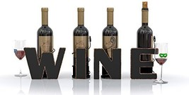 WINE Letter Metal Wine Bottle Holder - All 4 Letters WINE - Decorative Wine Bott