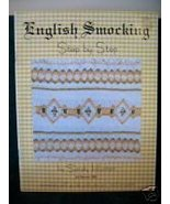 ENGLISH SMOCKING Patterns Step By Step DESIGNS and PROJECTS Vintage  - $8.95