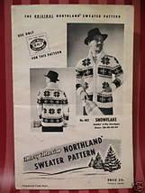 Vintage Mary Maxim Snowflake Cardigan Sweater Knitting Pattern Adults - $6.95