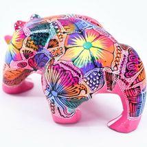 Handmade Alebrijes Oaxacan Wood Carving Painted Folk Art Muscular Bear Figure image 3