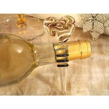 Murano Art Deco Heart Stopper Gold and White Color Glass - 24 Pieces - $85.95