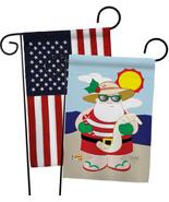 Tropical Santa - Impressions Decorative USA - Applique Garden Flags Pack... - $30.97