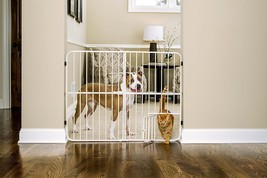 Extra Tall Metal Expandable Pet Gate Door Dog Cat Fence Security Safety ... - $30.98