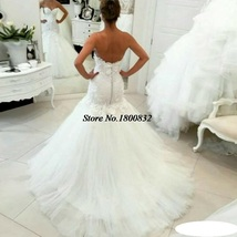 Bling Brides Lace Mermaid Wedding Dress with  Corset Back , Bridal Gown image 7
