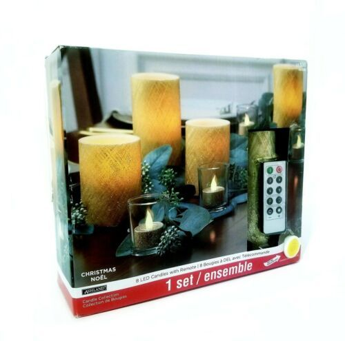 Primary image for Ashland Christmas Nöel 8 Led Candles With Remote New