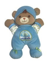 "Babys 1st Bear Plush Brown Fisher Price Teddy 10"" Blue Rattle Security L... - $7.07"